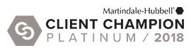Martindale Client Champion Platinum Award: Steven F. Fairlie